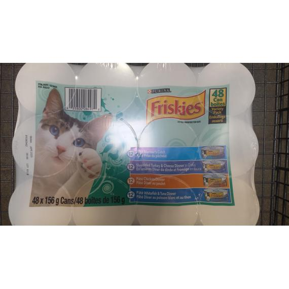 Friskies Wet Cat Food, Canned, 48 x 156 g