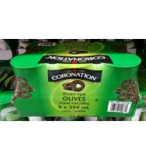 Coronation Sliced Olives, 6*398 ml