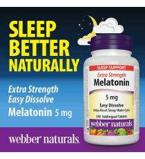 webber naturals® Melatonin Extra Strength Easy Dissolve - 240 x 5 mg Sublingual Tablets