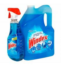 Windex Original Glass Cleaner, 5 L + 950 mL
