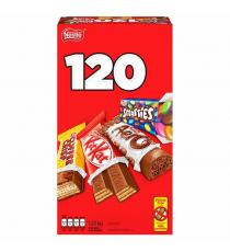 Nestlé, mini assortiment de barres de chocolat, paquet de 120