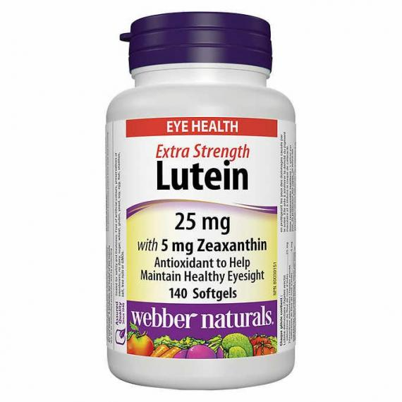 Webber Naturals Extra-Strength Lutein, 140 Softgels