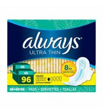 Always Ultra Thin Regular Pads, Paquet de 2 de 48