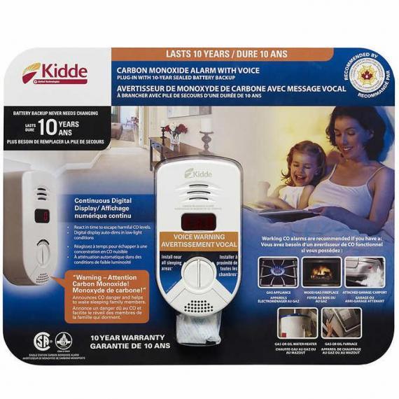 Kidde Plug-in Digital Carbon Monoxide Alarm with Voice Warning