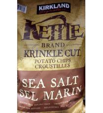 Kirkland Signature Kettle Brand Krinkle Cut Potato Chips Sea Salt 907 g