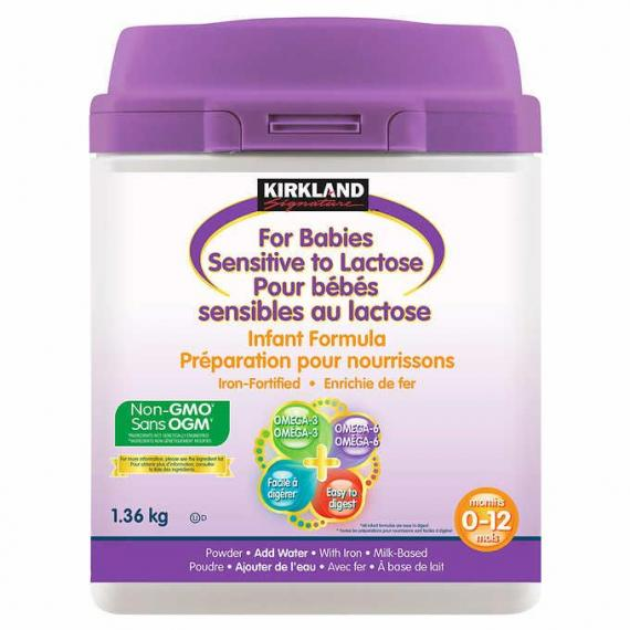 Kirkland Signature Infant Formula For Babies Sensitive to Lactose, 1.36 kg
