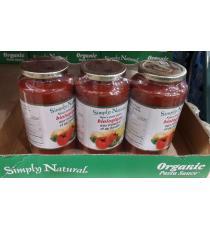 Simply Natural - Ensemble de 3 pots de sauce biologique pour pâtes 3 × 880 ml
