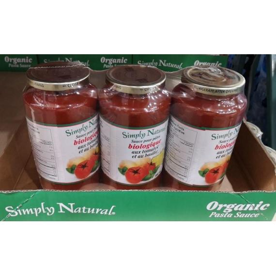 SIMPLY NATURAL SAUCE FOR ORGANIC PASTA 3x880ml