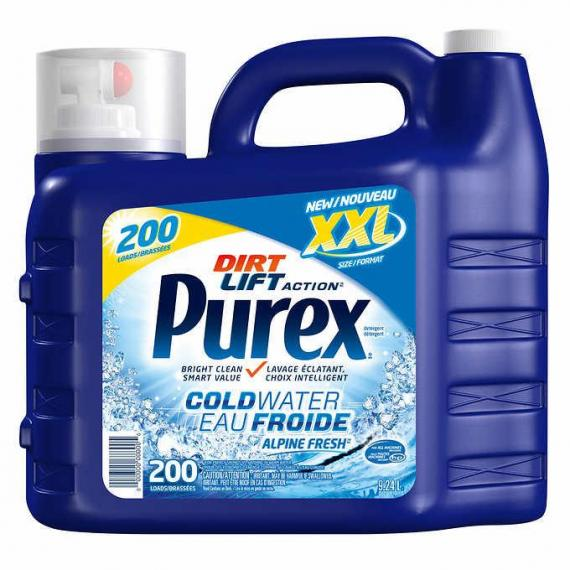 Purex Cold Water Laundry Detergent, 9.24 L, 200 Wash Loads