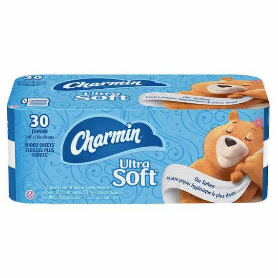 Charmin Ultra Soft 2-ply Bathroom Tissue, 221 Sheets 30-pack