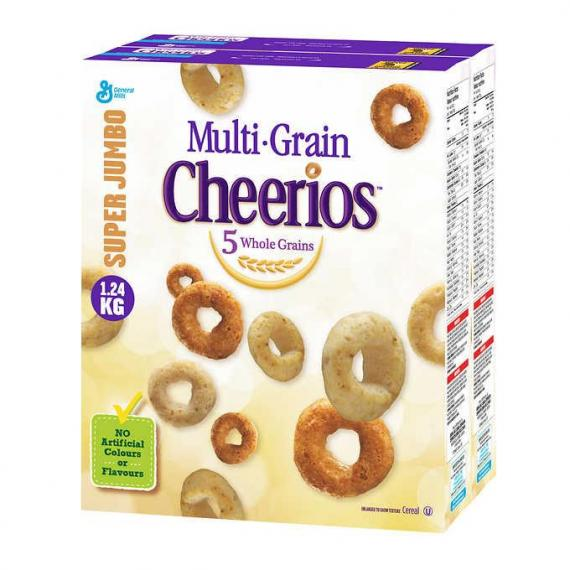 Cheerios Multi-Grain Jumbo Twin Pack 1.24 kg