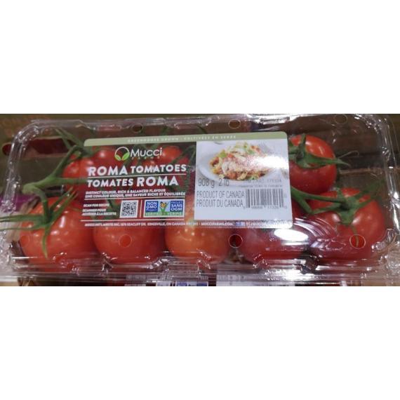 ROMA TOMATO MUCCI Farms Product of Canada 908 g / 2 lb