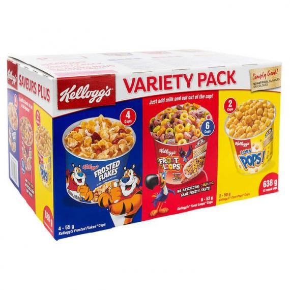 Kellogg's Cereal Variety Pack, 12-count