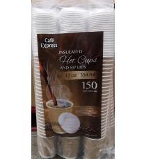 Cafe Express Tasses Et Couvercles, Paquet de 150