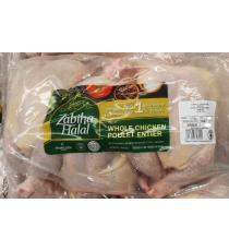 Poulet Entier Halal, 3 pièces, 4,8 kg (+ / - 50 g)