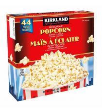 Kirkland Signature Microwave Popcorn Butter, 93 g (3.2 oz), 44-count X 93 g