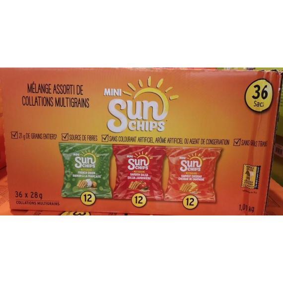 Frito Lay, Paquet Varié Sunchips, 36 X 28 g