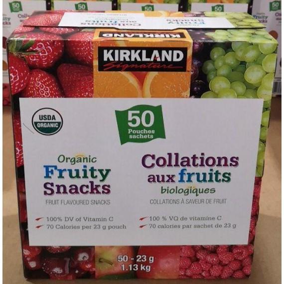 Kirkland Signature, Fruit Snack, 50 X 23 g, 1.13 Kg