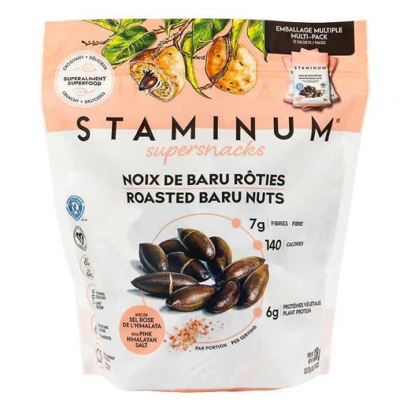 Staminum Roasted Baru Nuts, 12-count x 28 g