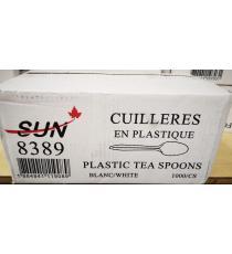 SUN 8389, cuillères à thé en plastique, blanches, 1000 unités