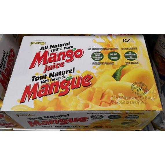 Philippines Brand Pure Mango Juice, 24 x 250 ml