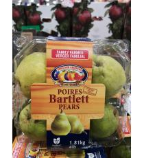 Bartlett Pears, Product Of Canada, Categorie De Fantaisie, 1.81 kg (4lb)