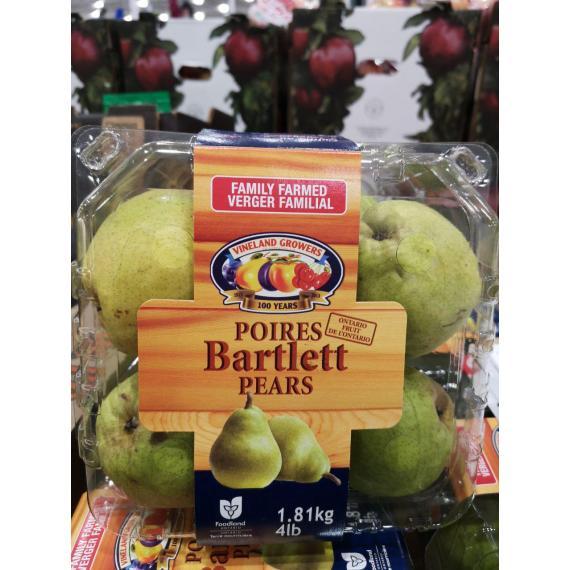 Bartlett Pears, Product Of Canada, Categorie De Fantaisie, 1.81 kg (4lb)