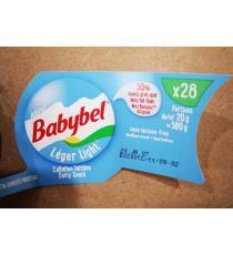 Babybel les Fromages Mini Babybel , 50% moins de gras que le type d'origine, Sans Lactose, 28 x 20 g