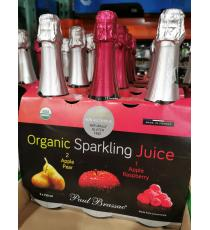 Paul Brassac Organic Sparkling Juices, 3 x 750 ml