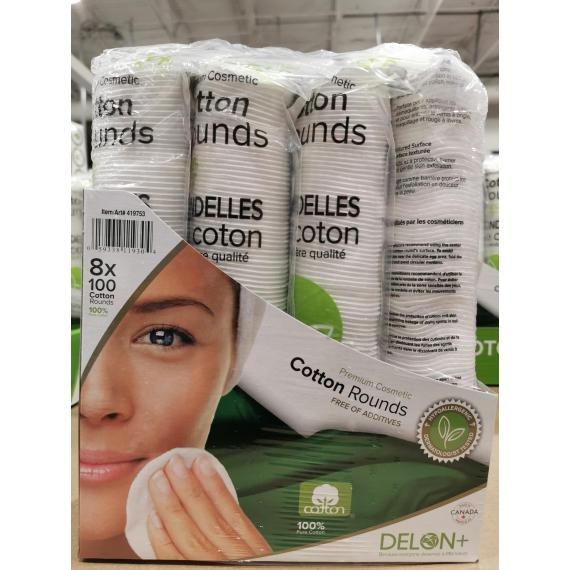 Delon Cotton Rounds, 8 pack of 100