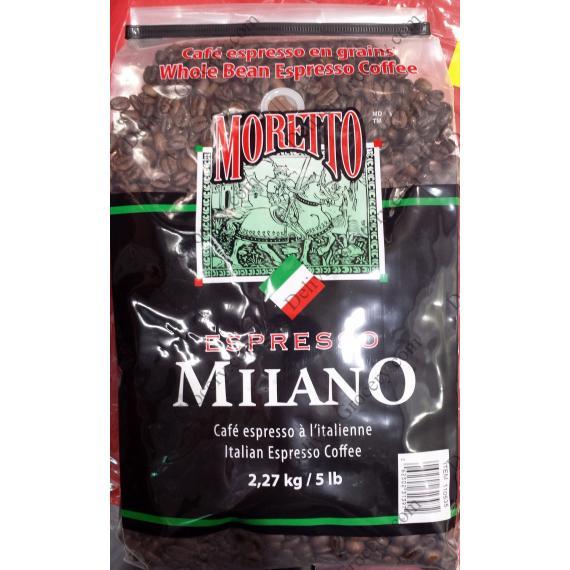 Moretto Whole Bean Espresso Coffee Milano 2.27 Kg
