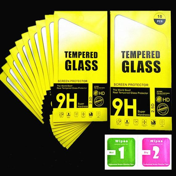 IPhone Screen Protector Tempered Glass, Pack of 10