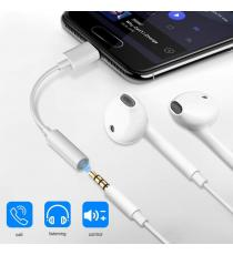 USB-C Type-C à 3,5 mm Aux Headphone Earphone Jack Adaptateur de câble audio
