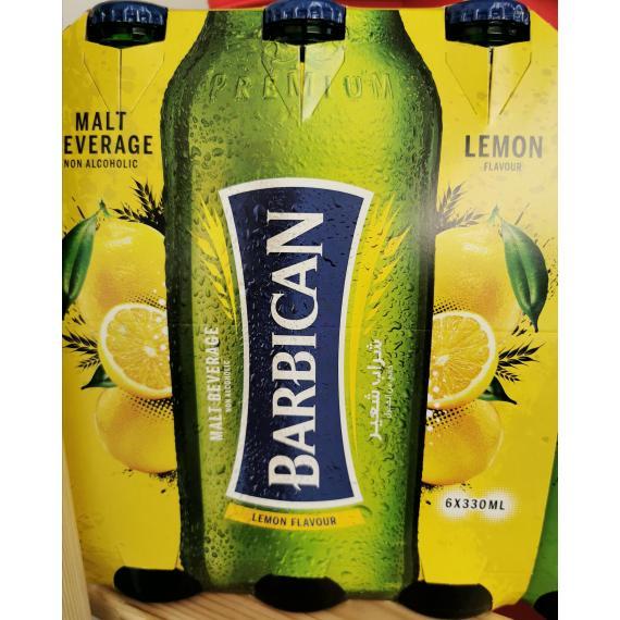 Barbican Non-alcoholic Malt Beverage, Lemon Flavour, 6*330 ml