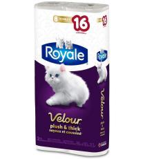 Royal toilet paper, 8 Double rolls, 142 sheets