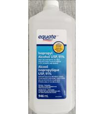 equate Isopropyl Alcohol 91%, 946 ml