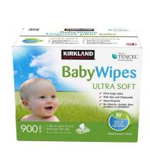 Lingettes pour bébé Tencel ultra-douces Kirkland Signature 9 paquets de 100
