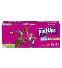 Huggies Pull-Ups Plus Training Pants 3T - 4T Girl Pack of 116