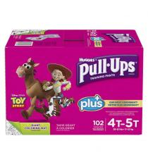 Huggies Pull-Ups Plus Training Pants 4T - 5T Girl Pack of 102