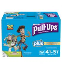 Huggies Pull-Ups Plus Training Pants 4T - 5T Boy Pack of 102