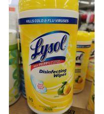 Lysol Lingettes désinfectantes, 80 lingettes