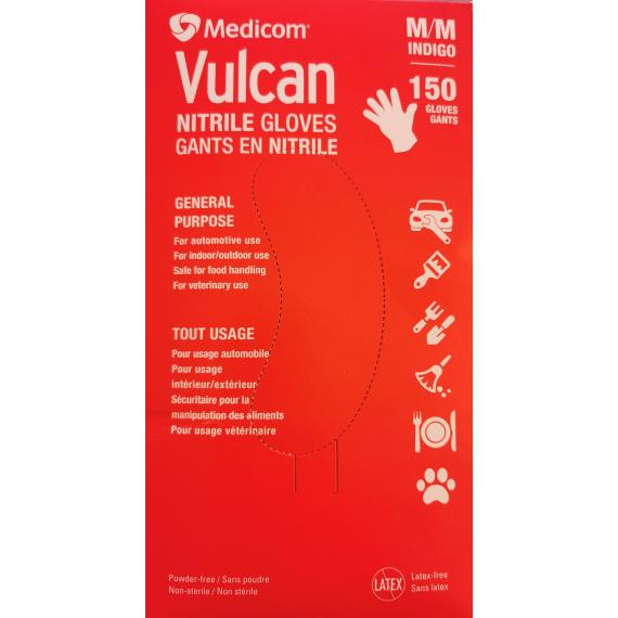 Medicom Vulcan Nitrile Gloves, Medium, 150