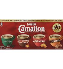 Nestlé Carnation mélange de chocolats chauds Variety Pack After Eight, Rolo, Mackintosh's, Turtles 40 Count