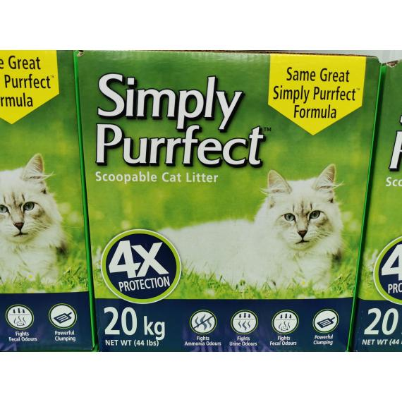 simply purrfect scoopable cat litter, 20kg