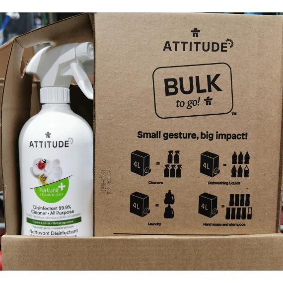 Attitude Disinfectant 99.9%, Cleaner All purpose 4L 800 ml
