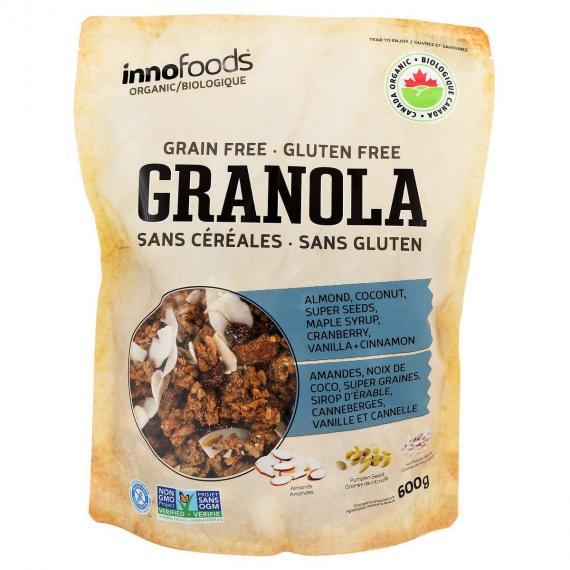 Innofoods Organic GRANOLA grain free gluten free, 600 g