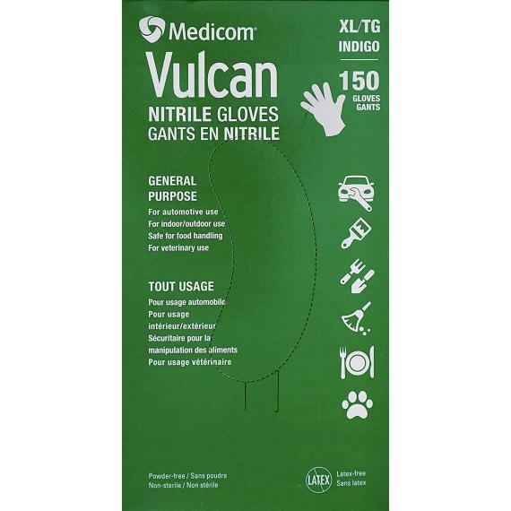 Medicom Vulcan Nitrile Gloves, XLarge, 150