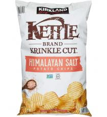 Kirkland Signature Kettle Brand Krinkle Cut Potato Chips Himalayan Salt 907 g