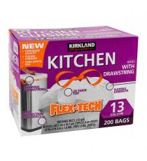 Kirklnad Kitchen Bags, Flex-Tech, 200 bags
