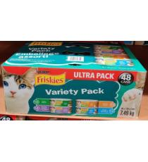 Friskies Assortment Cat Food , US Product 48 x 156 g